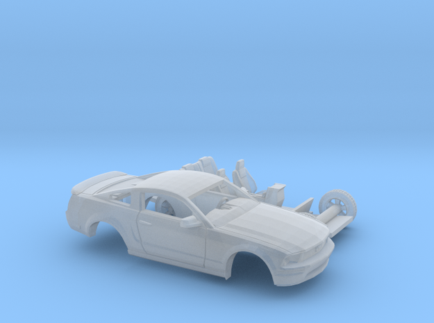 1/120 2007 Ford Mustang 2 Piece Kit in Smooth Fine Detail Plastic