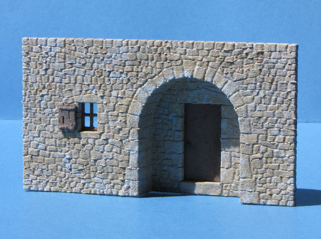 HOvVT03 - Troglodyte village in White Natural Versatile Plastic