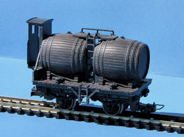 HOe-wagon03 - Barrel wagon crate in Smooth Fine Detail Plastic
