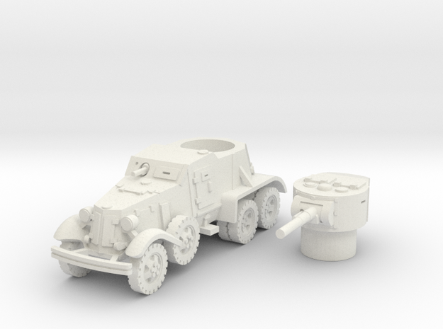 BA 36 with wheels (Soviet) 1/87 in White Natural Versatile Plastic