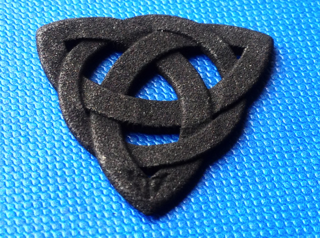 Guitar Pick Celtic Knot (Set of 6) in Black Natural Versatile Plastic