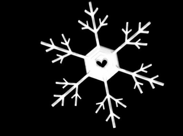 Snowflake 3d printed From a better angle