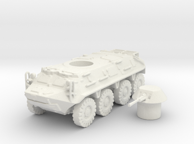 BTR- 60 vehicle (Russian) 1/100 in White Strong & Flexible
