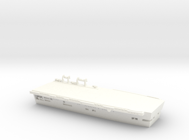 1/600 Scale HMS Invincible Stern in White Strong & Flexible Polished