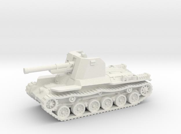 Ho Ni tank (Japan) 1/87 in White Natural Versatile Plastic