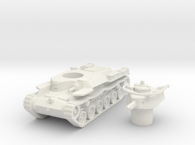 Chi-Ha Tank (Japan) 1/100 in White Strong & Flexible