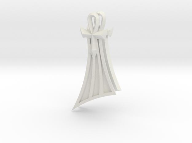 Pharaoh Atem Earrings (Smaller) in White Strong & Flexible