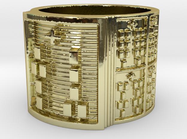 OGUNDATETURA Ring Size 13.5 in 18k Gold Plated Brass