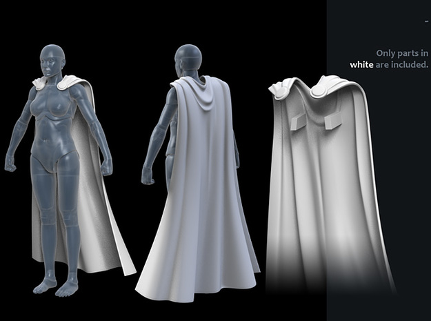 FB01-Cape-04  7inch in White Strong & Flexible Polished