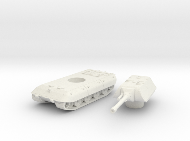 E-100 tank (Germany) 1/144 in White Natural Versatile Plastic