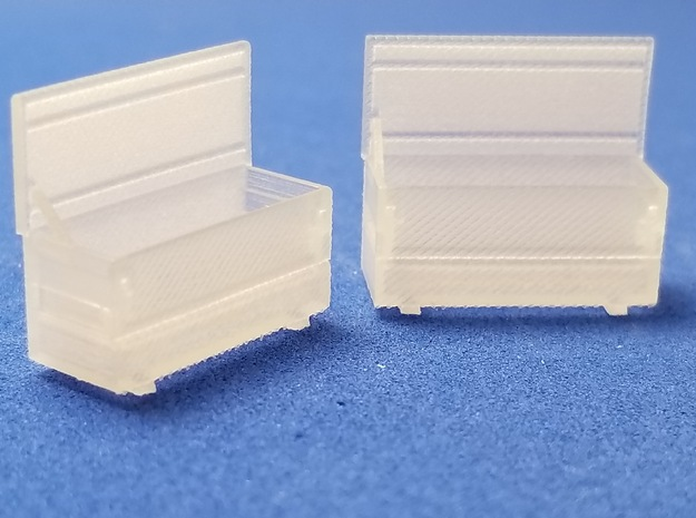 Rigid 60 R Open 2 Pack 1-87 HO Scale in Smooth Fine Detail Plastic
