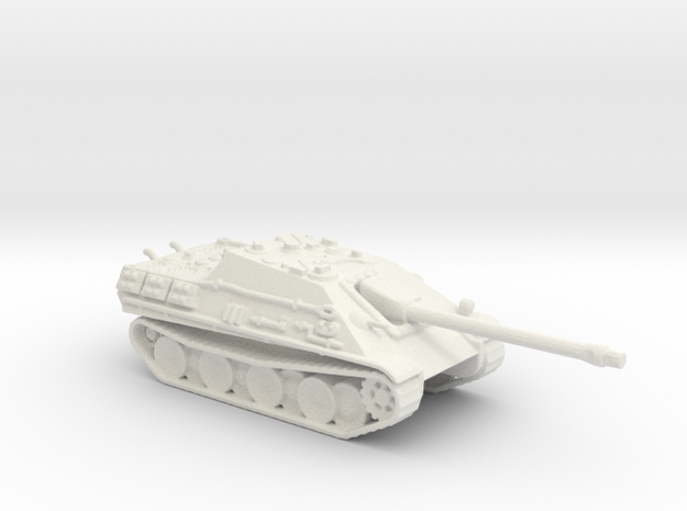 Jagdpanther tank (Germany) 1/144 in White Natural Versatile Plastic