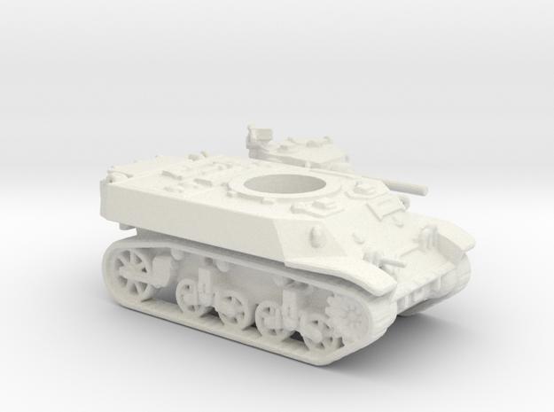 M3 Stuart tank (USA) 1/144 in White Natural Versatile Plastic
