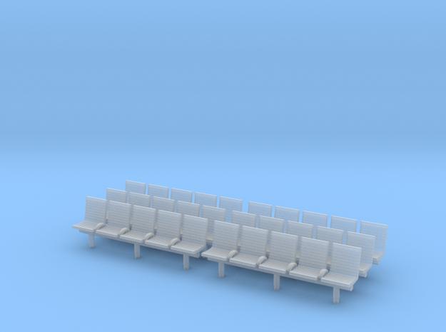 TJ-H04553x6 - bancs de quai 5 places avec dossier in Frosted Ultra Detail