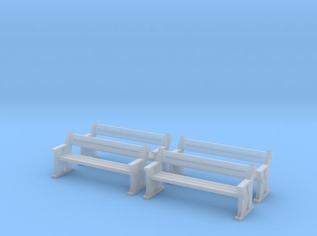 TJ-H04556x4 - bancs de quai en bois in Frosted Ultra Detail