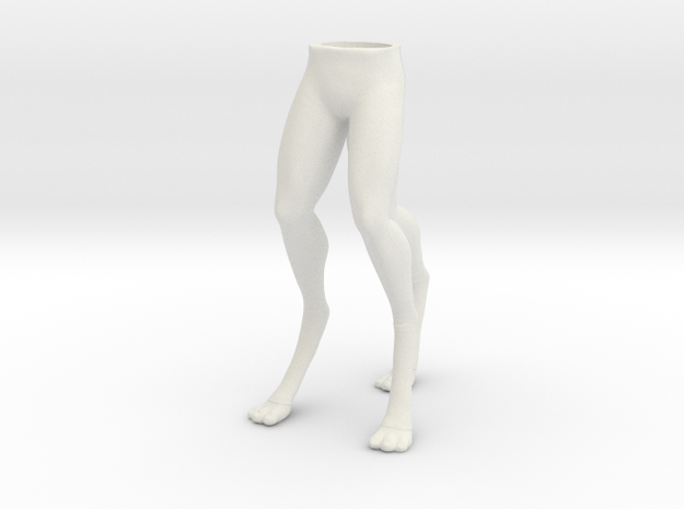 Arex Legs 1:6 scale in White Natural Versatile Plastic