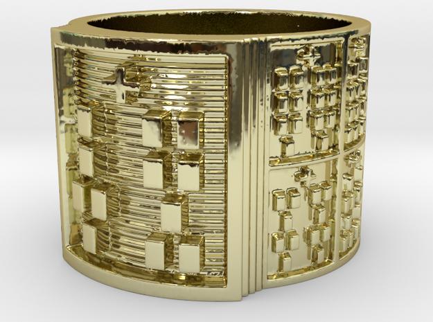 OTRUPONBIRETE Ring Size 14 in 18k Gold Plated Brass
