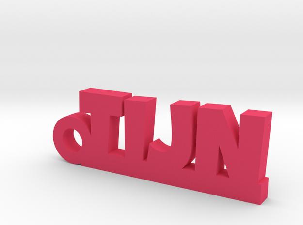 TIJN Keychain Lucky in Pink Processed Versatile Plastic