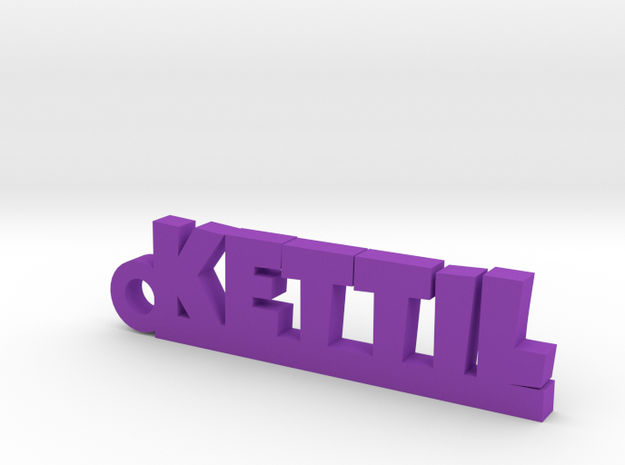 KETTIL Keychain Lucky in Purple Processed Versatile Plastic