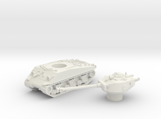 M4 Sherman Tank (Usa)  1/100 in White Strong & Flexible