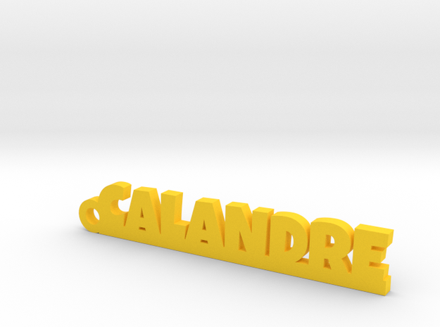 CALANDRE Keychain Lucky in Yellow Processed Versatile Plastic