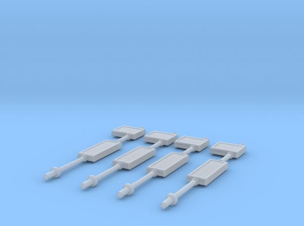 TJ-H01134x4 - Arrets de bus in Smooth Fine Detail Plastic