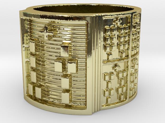 OTURAOGUNDA Ring Size 14 in 18k Gold Plated Brass
