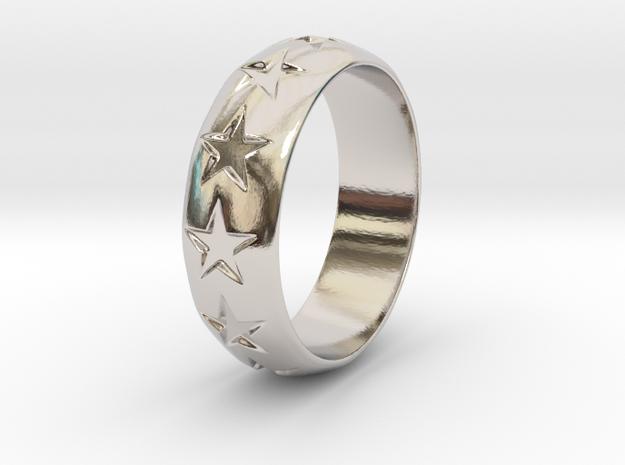 Eugen - Ring in Rhodium Plated Brass: 6 / 51.5
