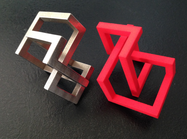 Knotcube  for puzzles in Red Processed Versatile Plastic: Small