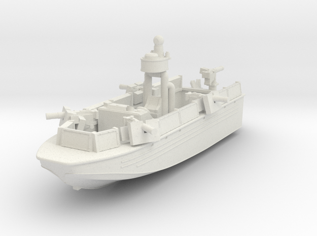 1/144 USN Riverine Assault Boat  (With guns) - Coa in White Natural Versatile Plastic