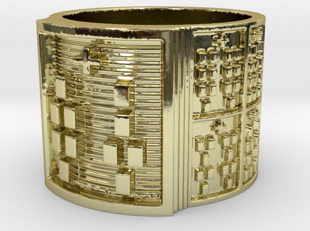 IRETEUNTEDI Ring Size 14 in 18k Gold Plated Brass