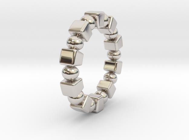 Claudette - Ring in Rhodium Plated Brass: 6 / 51.5