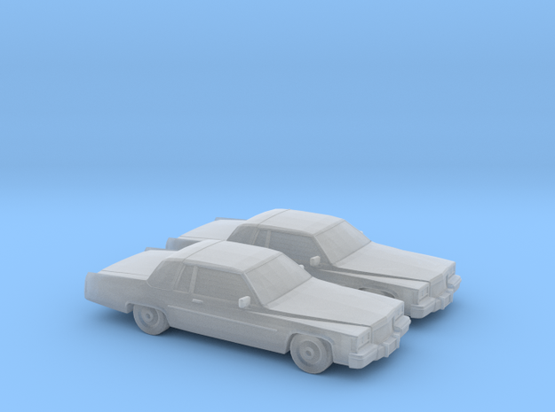 1/160 2X 1984 Cadillac Deville Coupe in Smooth Fine Detail Plastic
