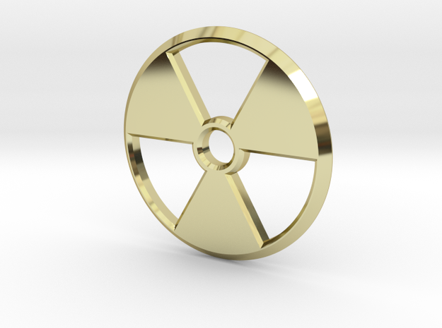 Radioactive Pendant in 18k Gold Plated Brass