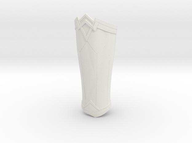 Wonder Woman Bracer Left in White Natural Versatile Plastic