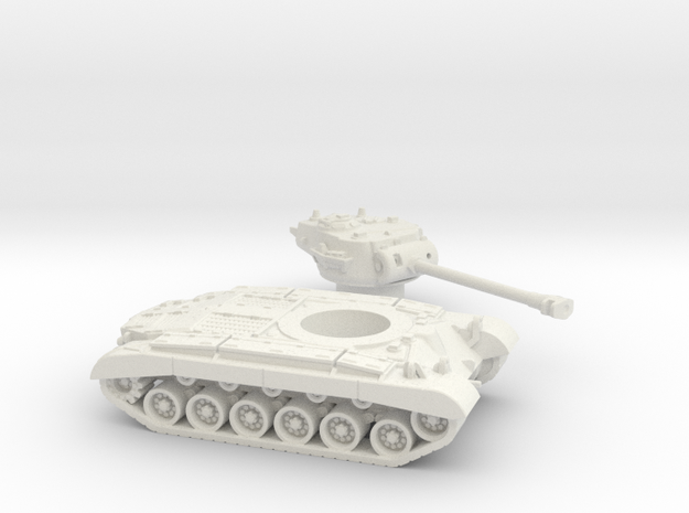 M26 Pershing (USA) 1/100 in White Natural Versatile Plastic