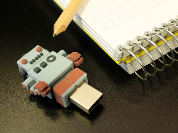 Color Robot USB Pen Drive  3d printed ready to work :)