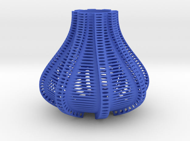 Vero Vase in Blue Processed Versatile Plastic