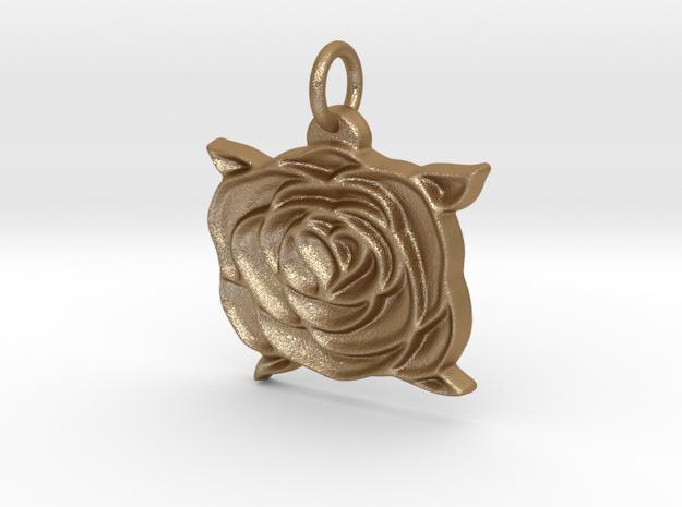 Heart rose V2 in Matte Gold Steel