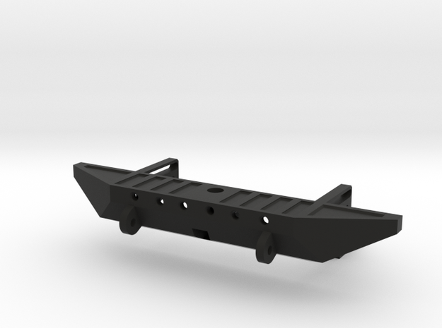 Rear Bumper with Hitch for AXIAL SCX10 in Black Natural Versatile Plastic