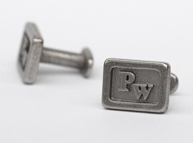 Custom cufflink nr.12 in Stainless Steel