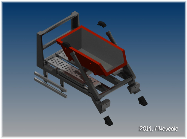 014001.2_Skip loader frame with 6m3 skip in h0 sca 3d printed Exploded view