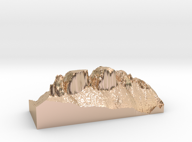 "MyTinyDolomites ""Drei Zinnen"" (Dolomites  in 14k Rose Gold Plated Brass"