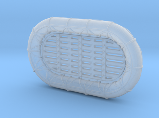 1/500 RN WW2 12ft x 7ft Carley Floats (48) in Smooth Fine Detail Plastic