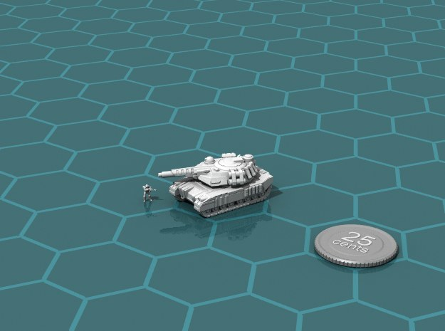 Terran Laser Tank in White Strong & Flexible