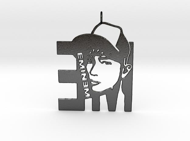 Eminem Pendant in Matte Black Steel