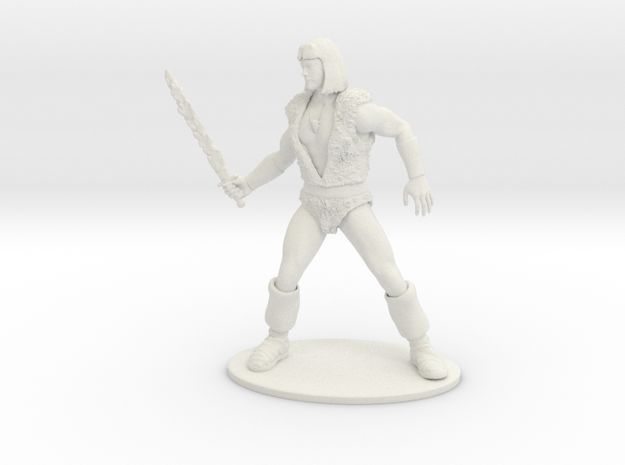Thundarr the Barbarian Miniature in White Strong & Flexible: 1:55
