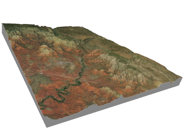 Sedona Arizona Map: 8.5x11 in Matte Full Color Sandstone
