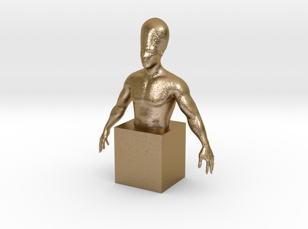 Human evolution in Polished Gold Steel: 1:10