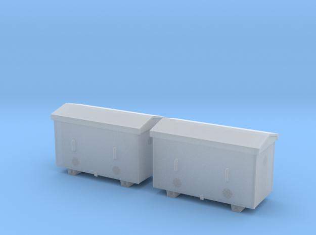 TJ-H04651x2 - Caisses à piles acier galvanisé gran in Smooth Fine Detail Plastic